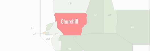 Churchill County Map